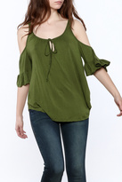 Heart & Hips Olive Ruffle Top