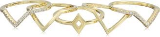 Noir Point Break Gold Ring Size 6