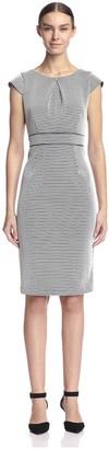 ABS by Allen Schwartz Women's Open Net Sheath Dress