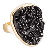 SUGARFIX by BaubleBar Druzy Ring - Black