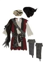 Incharacter Costumes 'Shipwrecked' Vest, Shirt & Mask (Little Boys & Big Boys)