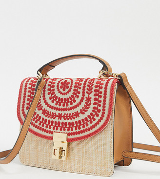 Aldo Liabel artisan pattern handbag in red