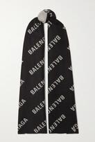 Thumbnail for your product : Balenciaga Intarsia Wool Scarf - Black