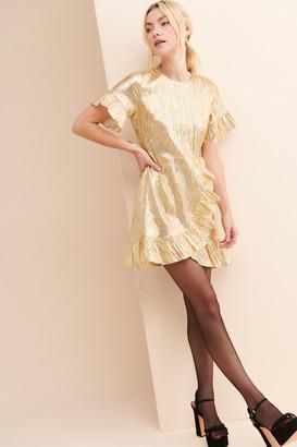 Glamorous Gold Sparkle Mini Dress