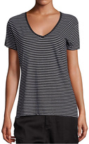 Vince Striped V Neck