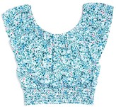 Splendid Girls' Off the Shoulder Floral Print Cropped Top - Sizes 7-14