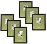 """MCS Flat-top Series, Wood Picture Frame for a 11x14"""" Photograph, 1"""" Width, Color: Black. (6 Pack)"""