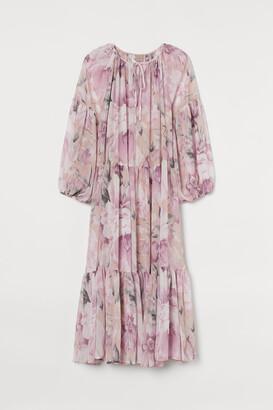 H&M H&M+ Chiffon Dress - Pink