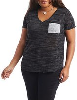 Charlotte Russe Plus Size Zip Pocket Tee