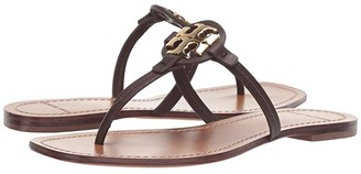 Tory Burch Mini Miller Leather Thong (Perfect Black) Women's Shoes