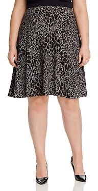 Leota Plus Animal Print A-Line Skirt