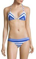 Vitamin A Natalie Miter Stripe Halter Bikini Top