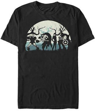 Fifth Sun Marvel Avengers Night Silhouettes Mens Crew Neck Short Sleeve Marvel Graphic T-Shirt