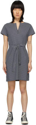 A.P.C. Navy and White Striped Linda Dress