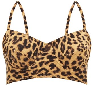 Norma Kamali Leopard-print Bralette Bikini Top - Leopard