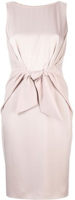 Paule Ka Sleeveless Fitted Dress