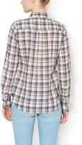 Trovata Cotton Plaid Roll-Tab Shirt