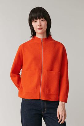 Cos Zip-Up Merino Wool Jacket