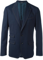 Dolce & Gabbana stitch trim blazer - men - Silk/Polyester/Spandex/Elastane/Virgin Wool - 54