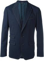 Dolce & Gabbana stitch trim blazer - men - Silk/Virgin Wool/Spandex/Elastane/Polyester - 50