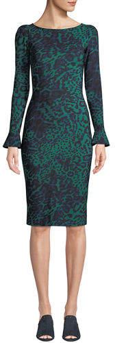 Chiara Boni Darsey Geometric-Print Cocktail Dress