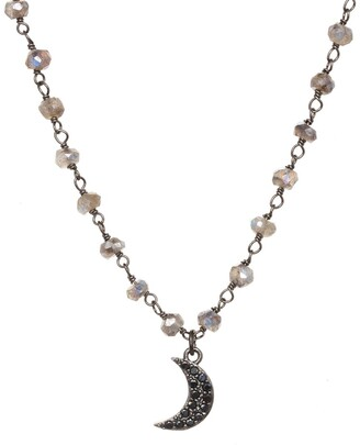 Rachel Reinhardt Silver Labradorite Princess Collar Necklace