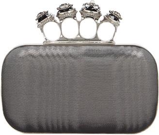 Alexander McQueen Four Ring Metallic Box Clutch