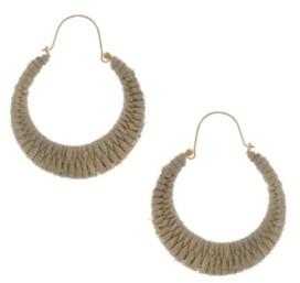The Sak Gold-Tone Cord Wrapped Hoop Earrings