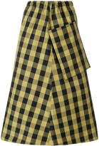 Sofie D'hoore pocket gingham print skirt