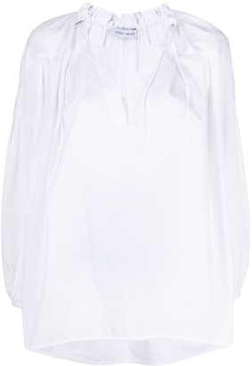 Christian Wijnants Ruffle Collar Crop Sleeve Blouse