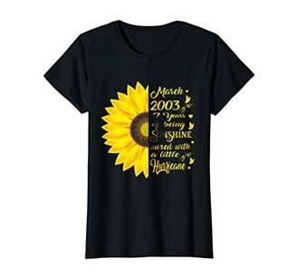 Womens March Girl 2003 TShirt 17 Years Old 17th Birthday Gift T-Shirt