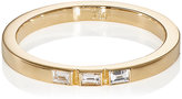 Ileana Makri Women's Baguette White Diamond Threadband-GOLD