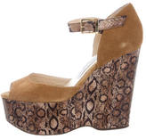 Jimmy Choo Python & Suede Wedges