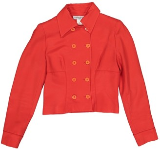 Chantal Thomass Red Wool Jacket for Women Vintage
