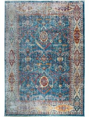 "Nicole Miller Artisan Blue/Gray Area Rug Rug Size: Rectangle 53"" x 79"""