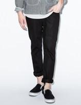 Nudie Jeans Black Thin Finn Black Ring Denim Jeans
