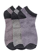 Joe Fresh Low Cut Stripe Socks - Pack of 3 (Little Girls & Big Girls)