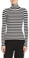 Maje Women's Stripe Turtleneck Sweater