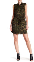 Haute Hippie Safari Camo Print Shirt Dress