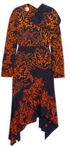 Peter Pilotto Embroidered Silk Dress - Navy
