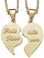 Gold-Plated Best Friends Pendant Necklaces with Birthstone - Right Half