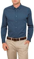Ted Baker Ls Hexagon Print Shirt
