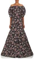 Zac Posen Women's Embroidered Mousseline Gown