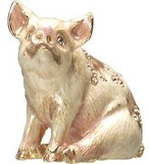 Jay Strongwater Mini Pig Figurine by