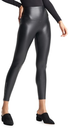 Yummie by Heather Thomson High-Waist Faux Leather Leggings