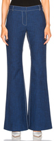 Wes Gordon Flare Pant in Blue.