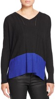 Design History Color Block Pointelle Sweater