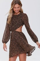 Thumbnail for your product : Forever 21 Paisley Cutout Mini Dress