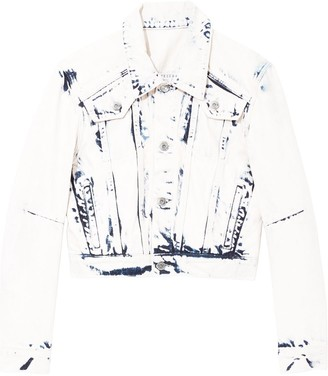 Proenza Schouler White Label Bleached Cropped Jacket