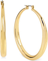 Kenneth Cole New York Gold-Tone Large Hoop Earrings